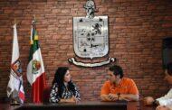 RECIBE ALCALDESA PATRICIA SALAZAR DE FORMA INSTITUCIONAL AL SENADOR POR NL SAMUEL GARCIA.