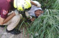 REPORTAN PERSONA TIRADA EN MONTEMORELOS, ACUDE PROTECCION CIVIL PARA AUXILIARLO.